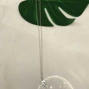 Brand new silver palm tree necklace